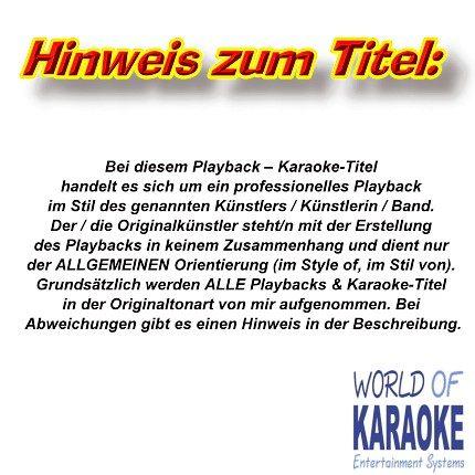 Hinweis zum Titel - Karaoke Kaufen