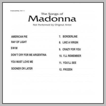 Backstage Karaoke Madonna 6517 - Back