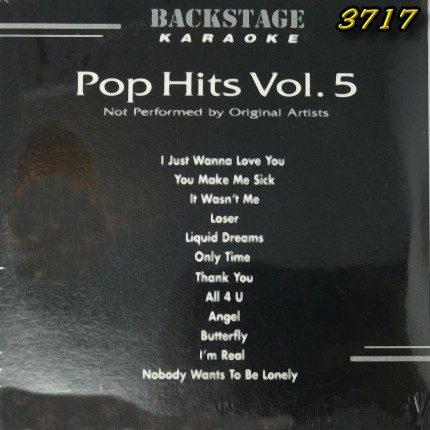Backstage Karaoke Pop Hits Volume 5 - 3717 - Front