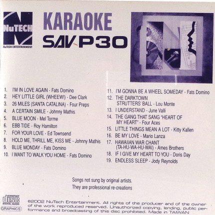 NuTech-P-30-Karaoke – Classic Hits - Rueckseite