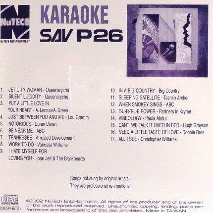Nutech-P-26-Karaoke- CD+G - Playbacks