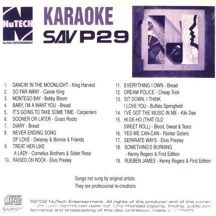 Nutech-P-29-Karaoke -Rock Classics und mehr