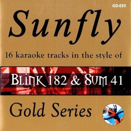 Sunfly Karaoke Gold CD + G - Blink 182 - Front