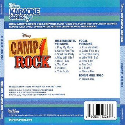 Disney Series - Camp Rock - Karaoke Playbacks - CD+G - Rueckseite
