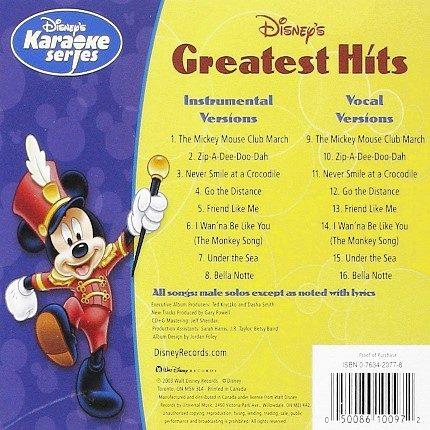 Disney's Series - Greatest Hits - Karaoke Playbacks - CD+G - Rueckseite