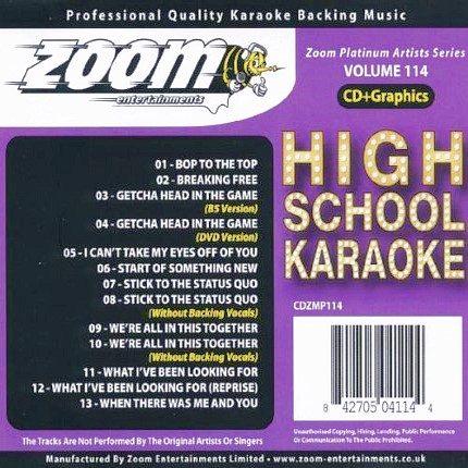 Zoom Karaoke CD+G - Platinum Artists 114 - High School Musical
