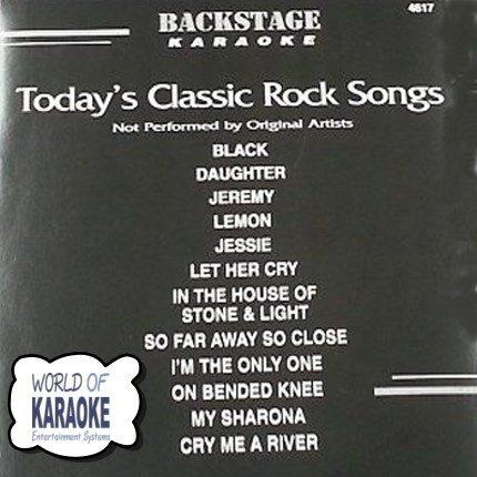 Backstage Karaoke CDG - BS 4617 - Today's Classic Rock