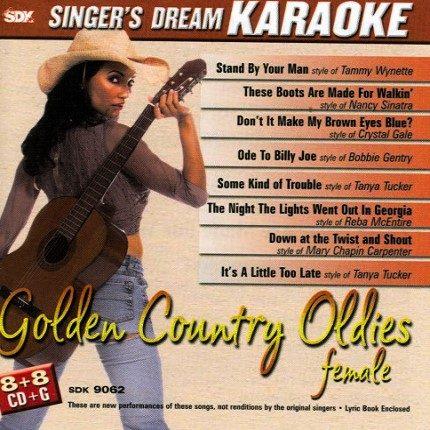 Golden Country Oldies Female - Karaoke Playbacks - SDK 9062 (Sparausgabe)