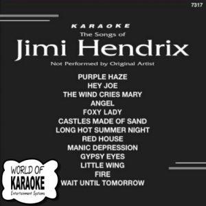 KARAOKE PLAYBACKS CD+G Backstage 7317 - JIMI HENDRIX
